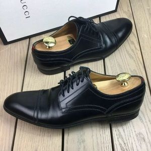 Gucci shoes loafers lace up derby with stripe 29f1b8edfa5